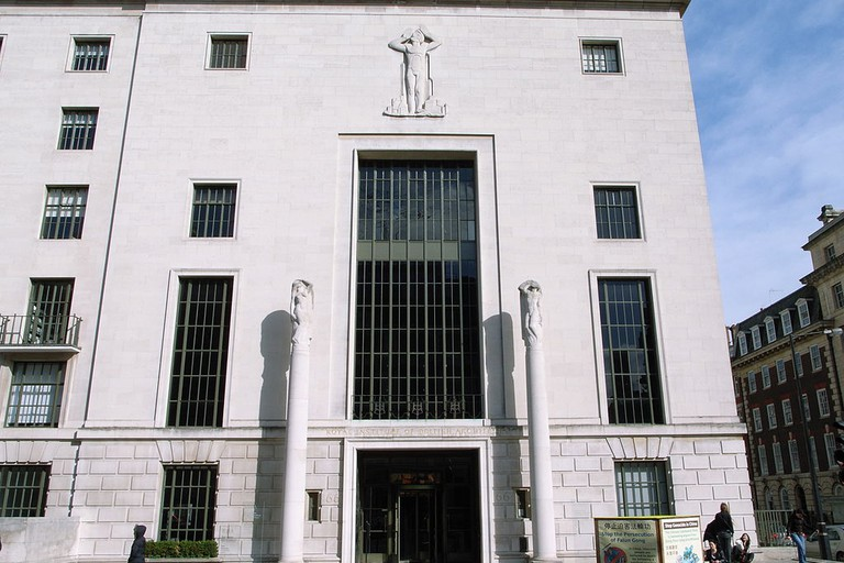 RIBA building exterior at 66 Portland Place