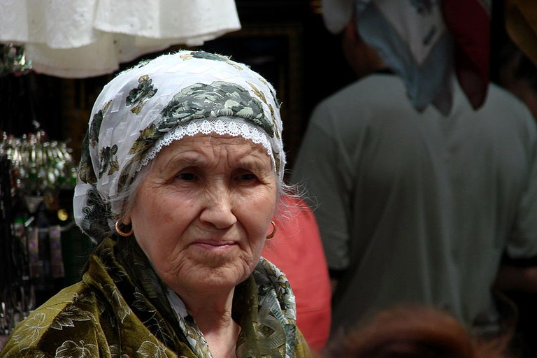 Woman in Market Kazan