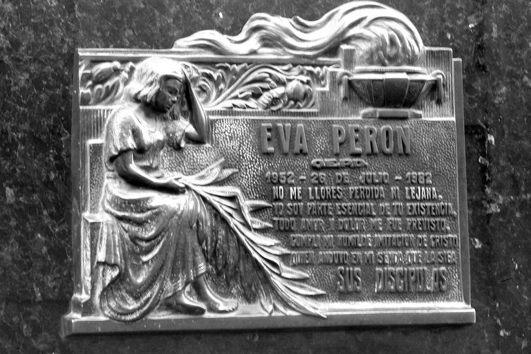 Eva Peron's grave in the Recoleta Cemetery