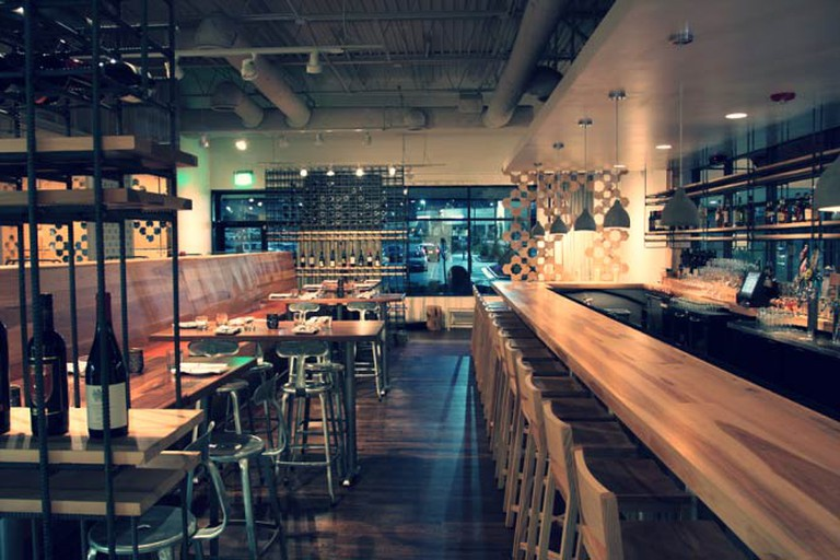 The bar and dining area at Foundation Social Eatery