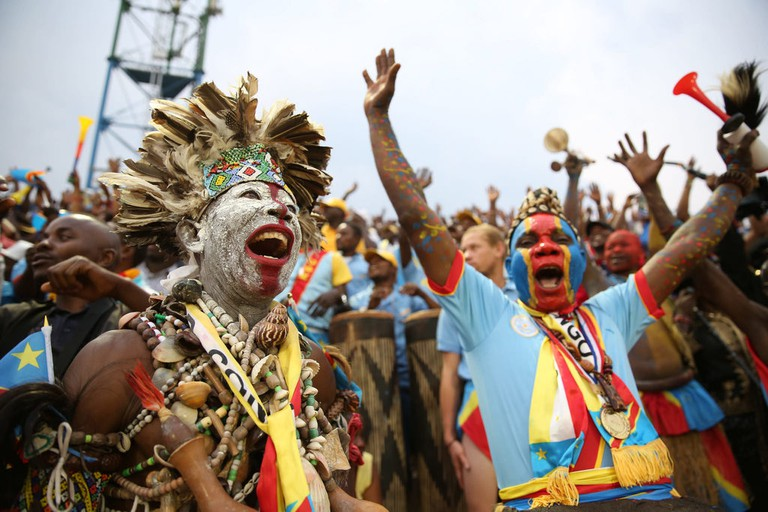 Fans at Amahoro National Stadium