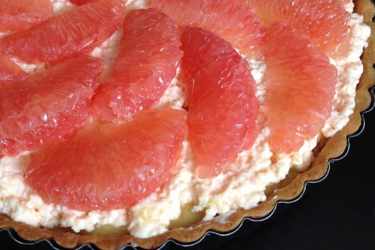 Hugo & Victor's Pink Grapefruit Tart