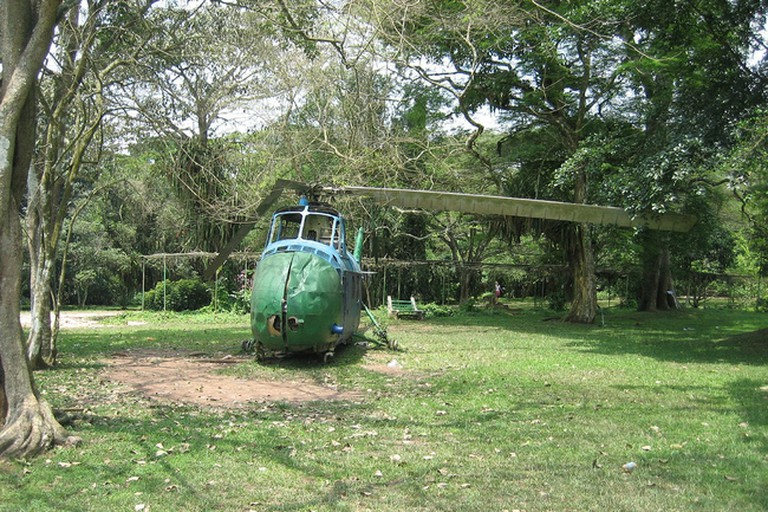 Helicopter at Aburi