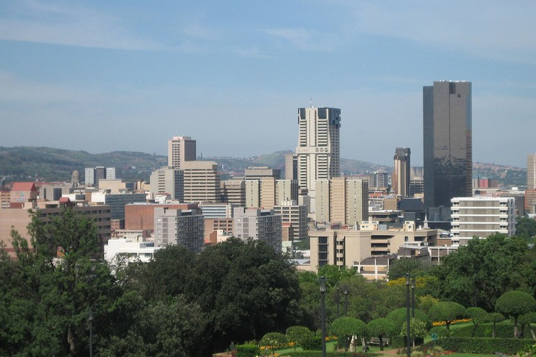 Pretoria skyline with Reserve Bank far right