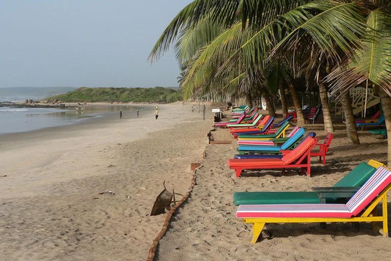 Bright beach loungers, Ghana