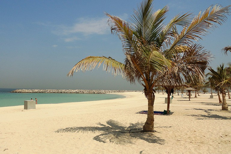 Mamzar Beach in Dubai