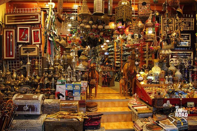 Souvenirs in Muttrah Souq, Muscat, Oman