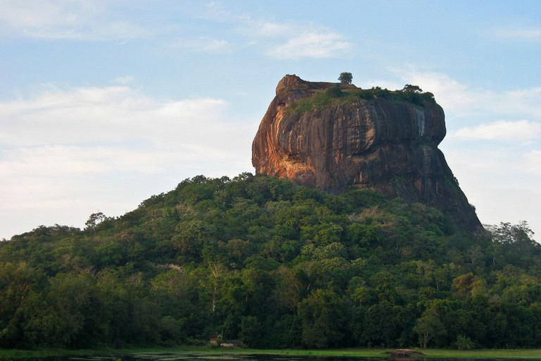The natural rock outcrop of Sigiriya