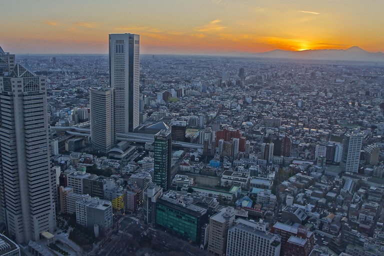 Eveningview from the Tokyo Metropolitan Government Buildings North Tower Observatory