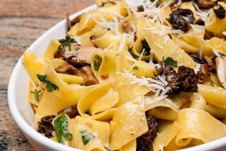 Stuff your face with pasta and mushrooms