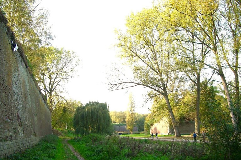 The moat of the Citadelle de Lille