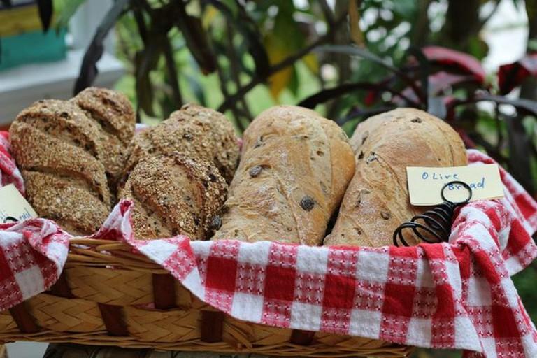 Olive bread at Doongalik