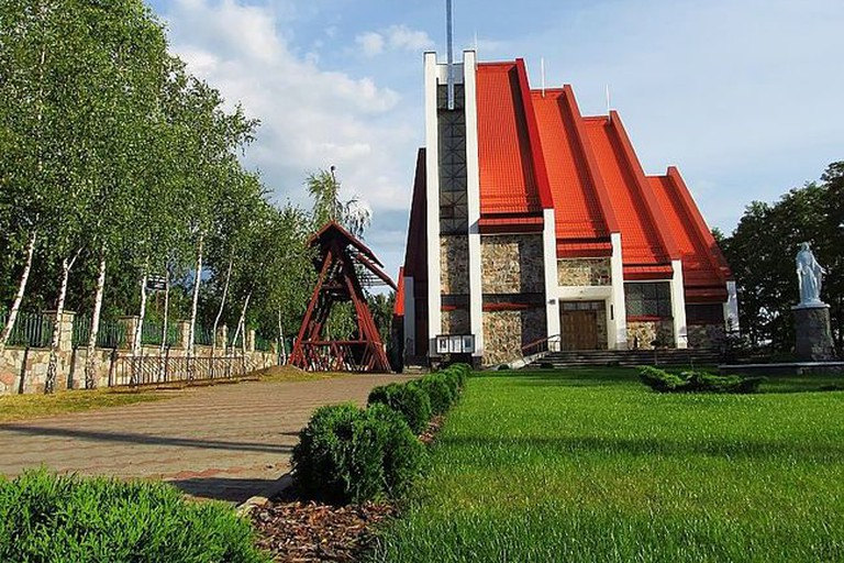 Our Lady of Częstochowa church in Czarna Woda, Poland