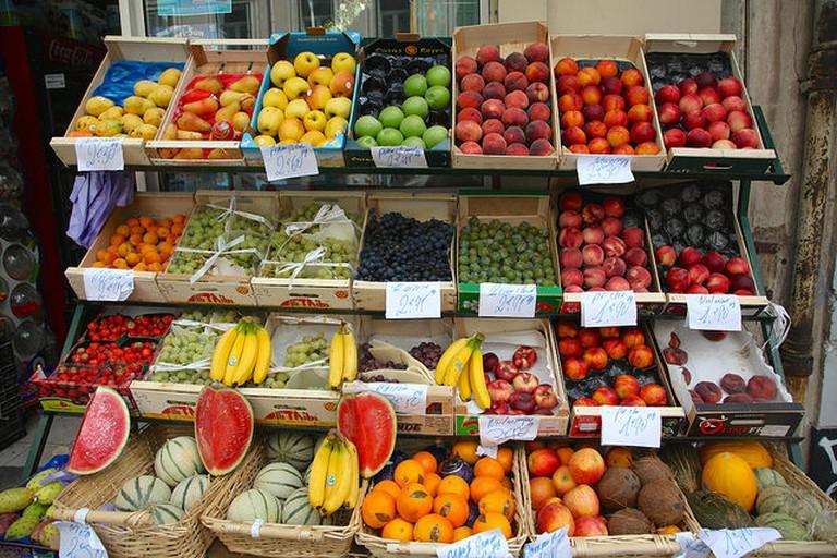 Rainbow of produce