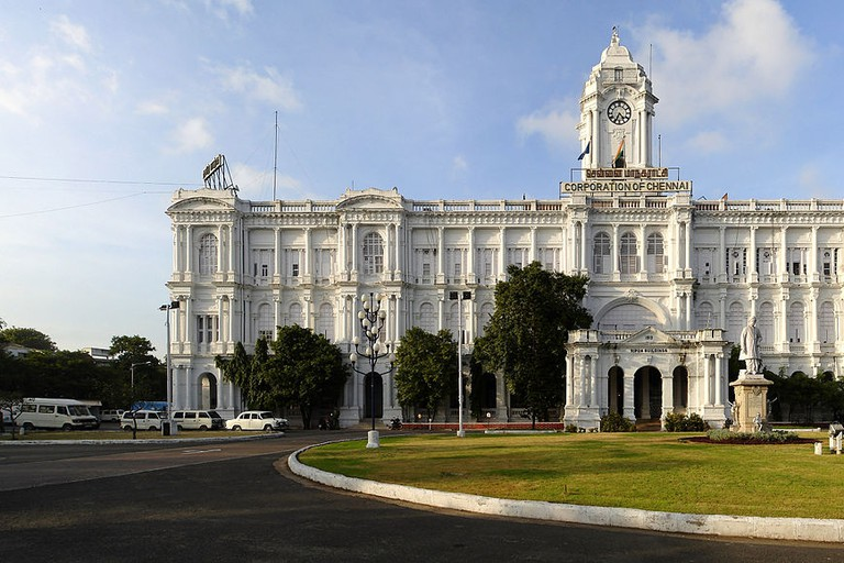 Ripon Building is the current headquarters of the Corporation of Chennai