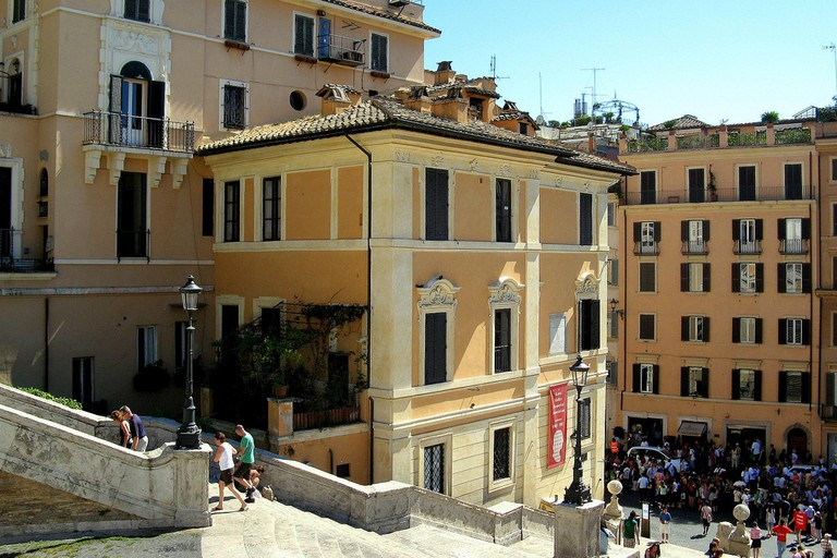 The Keat-Shelley Memorial House at Piazza di Spagna