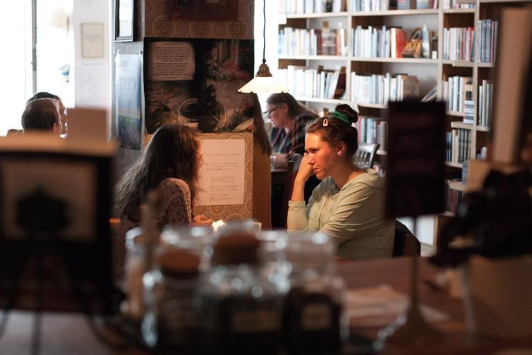 Løve's BogCafé interior