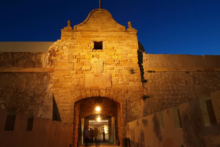 The entrance to Cádiz's Santa Catalina castle