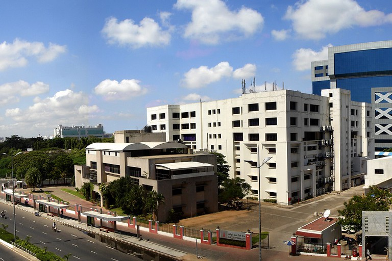 A panoramic view of the Tidel Park complex in Rajiv Gandhi Salai, Chennai