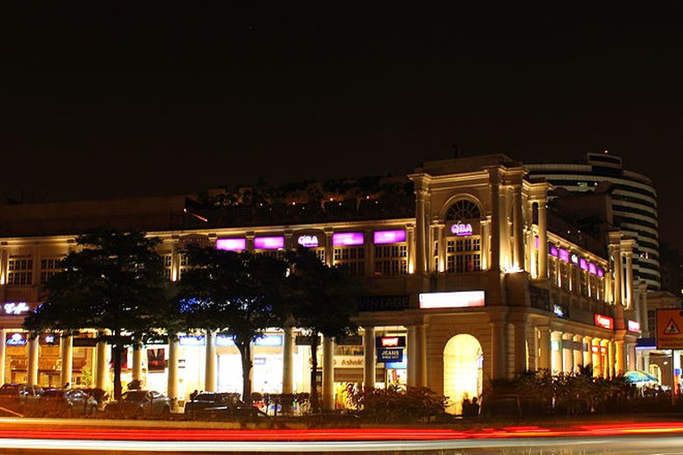 Connaught Place, Delhi at night