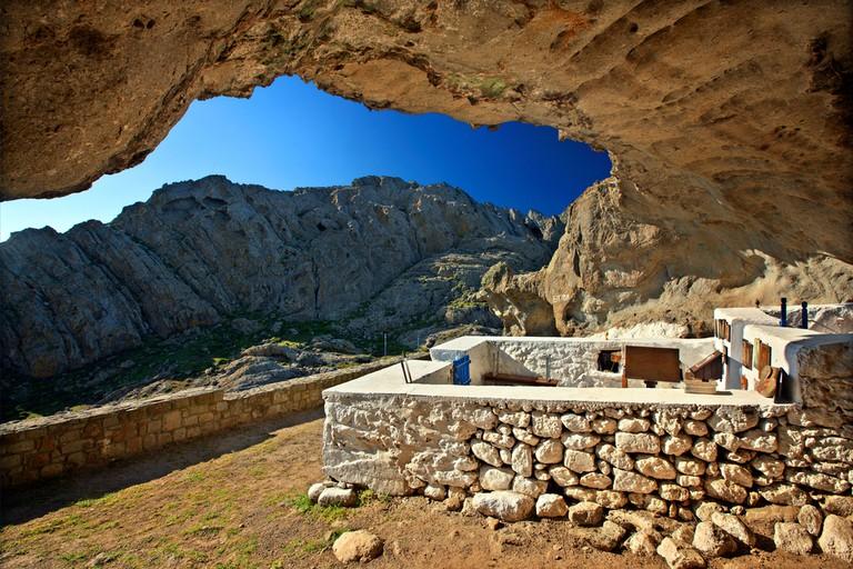 "The ""cave church"" of Panagia Kakaviotissa, Lemnos (Limnos) island, North Aegean, Greece"