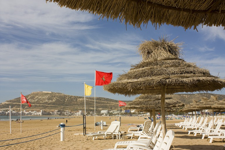 Relax on the beach in Agadir