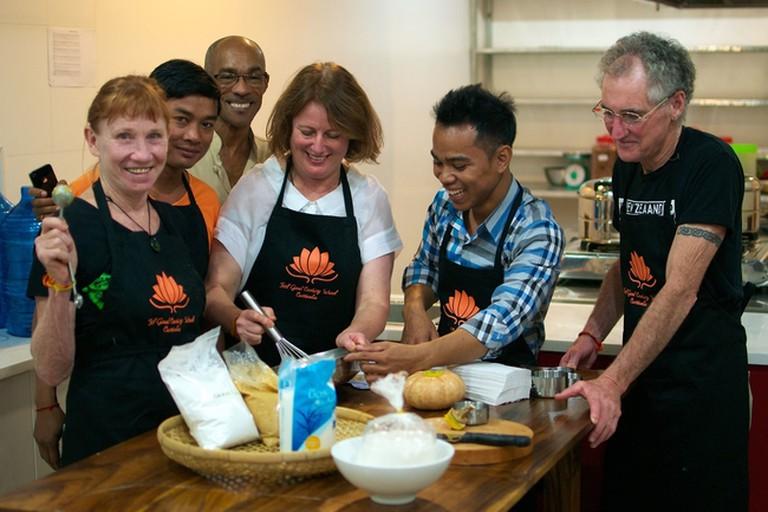 Chef Nara leads a class