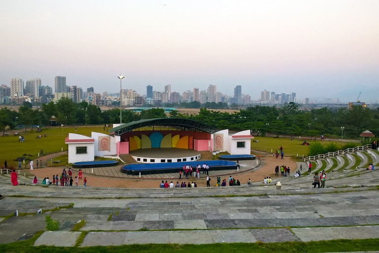 Open air amphitheater at Central Park, Kharghar, Navi Mumbai