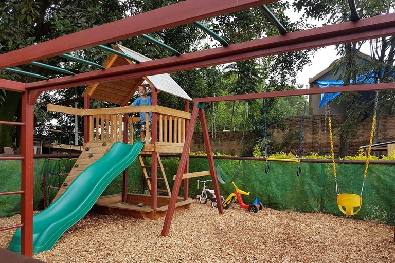 Head to a restaurant with a playground