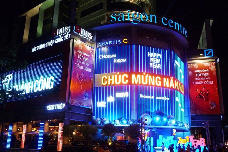 Saigon Center at night
