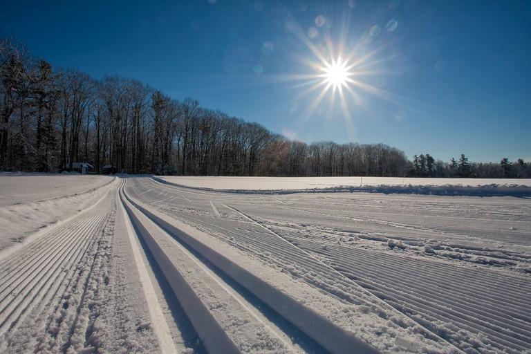 Skiing at Pineland Farms
