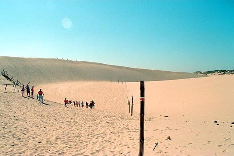Amazing moving sand dunes