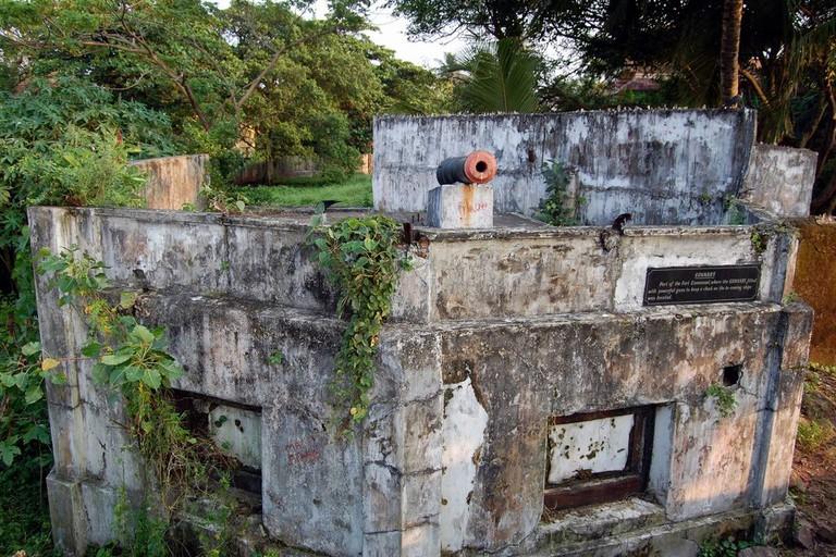 Gunnery part of Fort Emmanuel