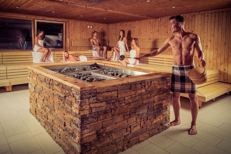 One of the many saunas at the spa