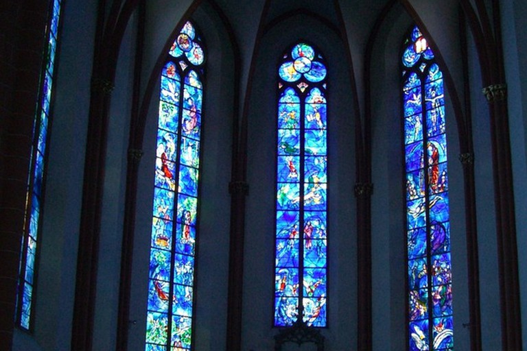 Stained glass windows at St.Stephan's Church
