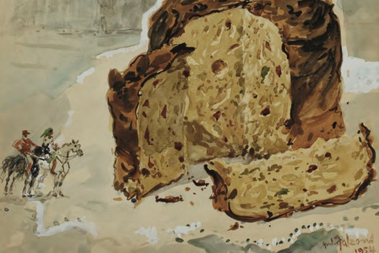 An old Cucchi advertisment showing their famous panettone