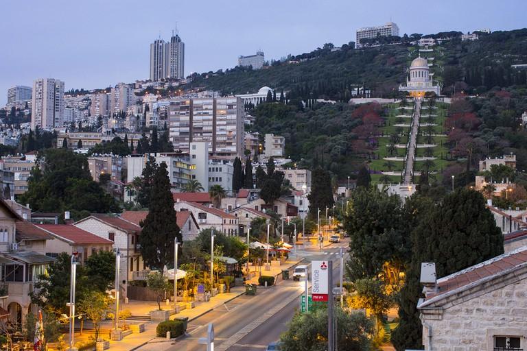 The German Colony and Bahai Gardens, Haifa, Israel