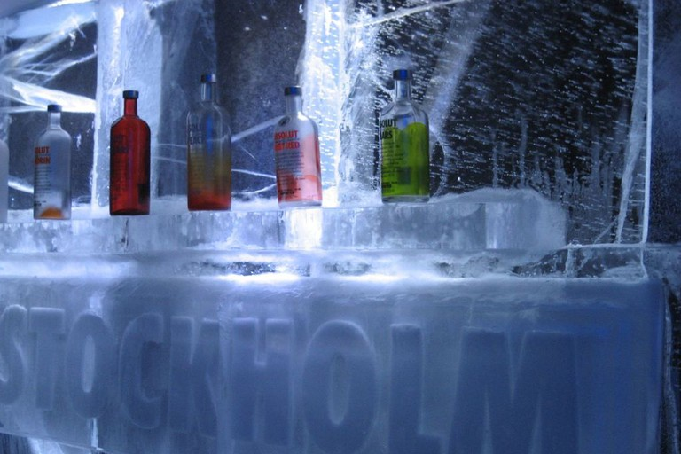 The ice bar in Stockholm