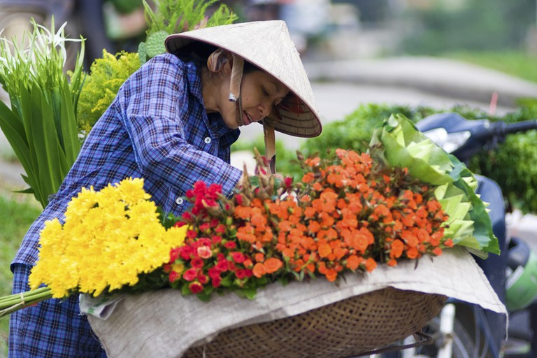 Flowers for sale at Quang Ba