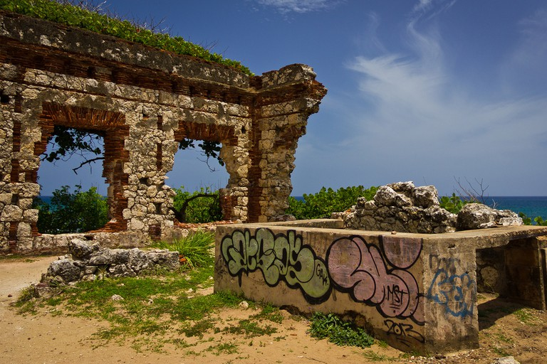 Ruins of the original Aguadilla Lighthouse