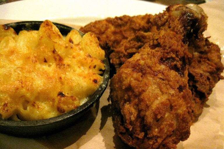 Fried Chicken and Mac and Cheese