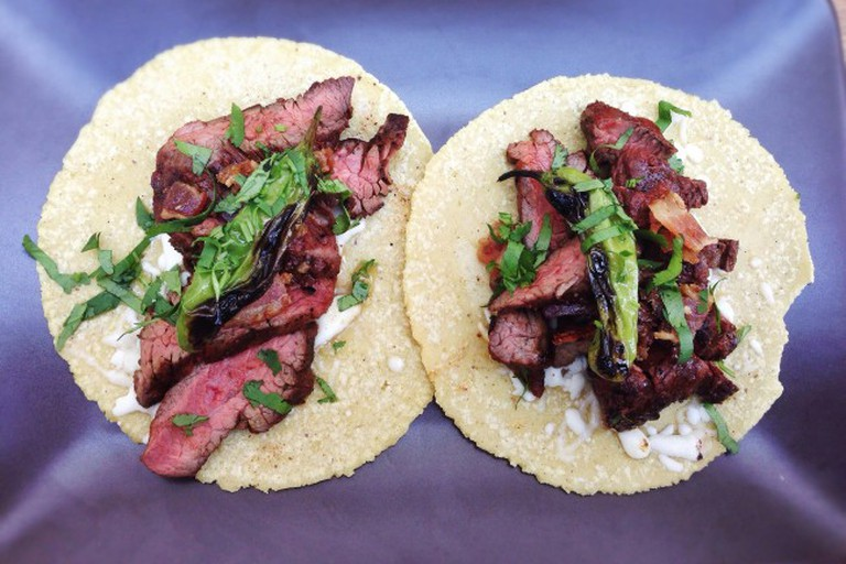 Hanger Steak Tacos