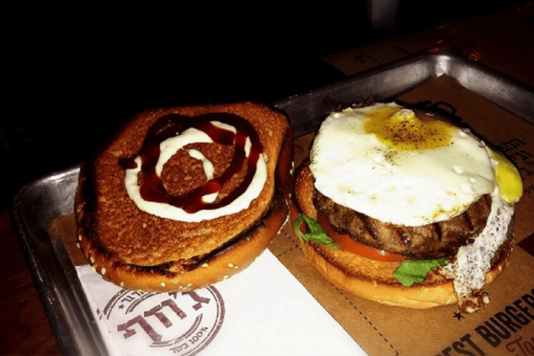 A fried egg on top is the way to go at Josef Burger