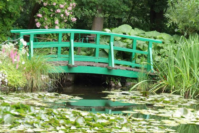 The famous bridge over the waterlily pond in Monet's garden