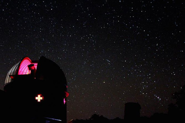 Custer Observatory With A Starry Backdrop