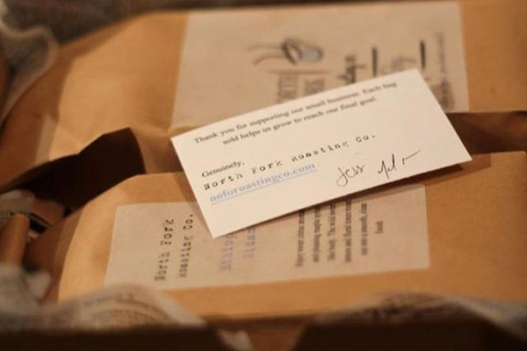North Fork Roasting Company Coffee With A Personalized Note