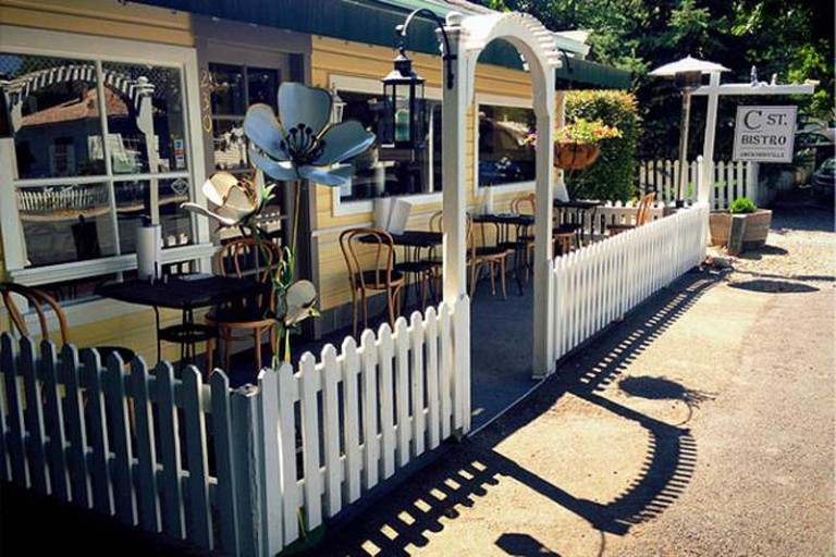 Outdoor dining at C Street Bistro