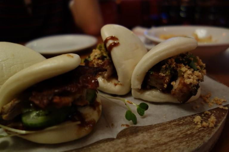 Peking Duck and Pork Belly Bao