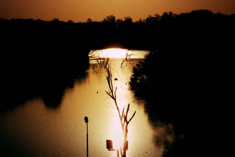 Evening Scene at the Hauz Khas Village Lake
