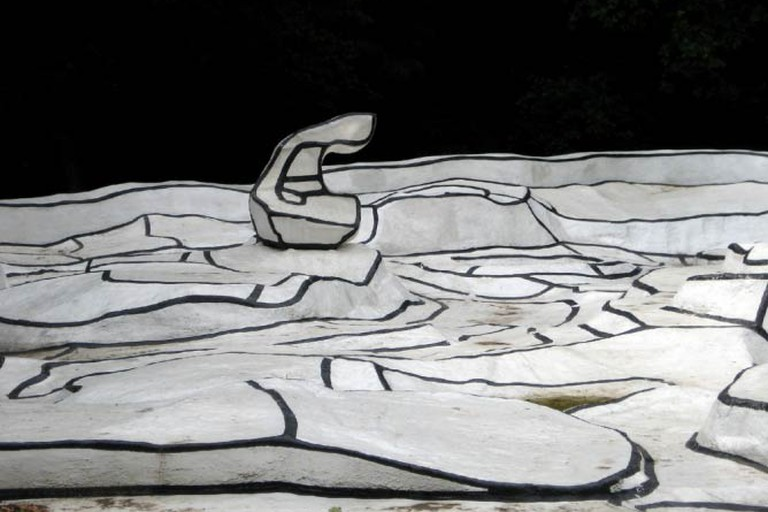 A detail from Jean Dubuffet's work in the Kröller-Müller sculpture Garden